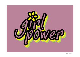 Girl Power with flower Purple version