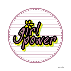 Girl Power, with flower, Girl Poster, Girl room