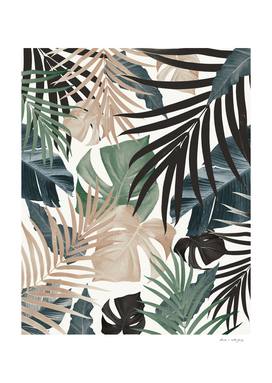 Tropical Jungle Leaves Pattern #13 (Fall Colors) #tropical