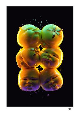 Neon Surreal Tomatoes