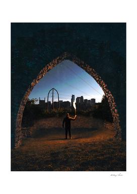 Portal to Minneapolis Minnesota Skyline