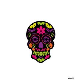 Calavera sugar skull Day of the dead floral skull