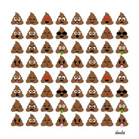 Pile of poop emoticons_Poop emoji smilies