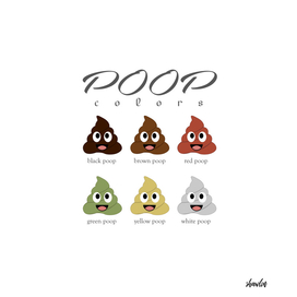 Poop diversity_poops of different colors