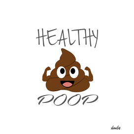 Healthy poop with flexing arms