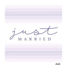 Just married calligraphy typography