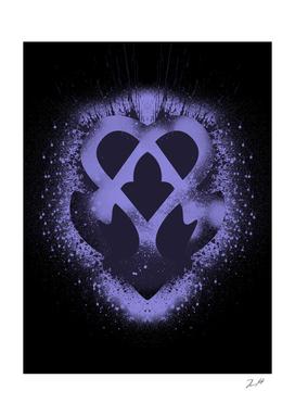 Kingdom Hearts Brushed Nightmare Emblem