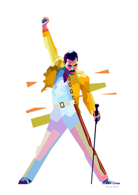 Freddie Mercury iconic pose