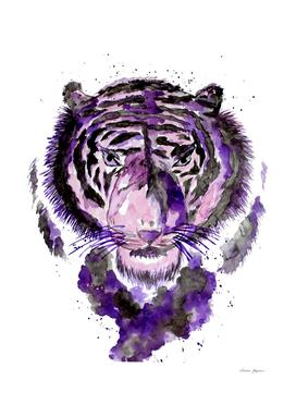 Purple Watercolor Tiger