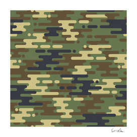 curve shape seamless camouflage pattern