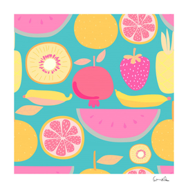 seamless pattern with fruit vector illustrations gift