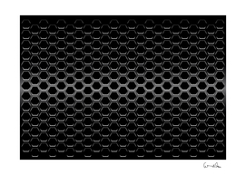 black metallic hexagon mesh pattern background