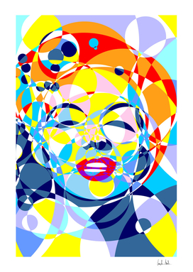 Marilyn Colored Circles