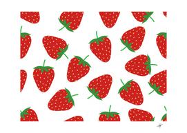 seamless pattern fresh strawberry