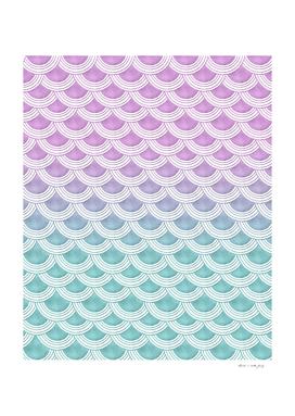 Pastel Mermaid Scales #1 #pastel #decor #art