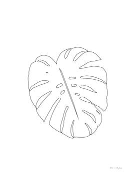 Minimal Monstera Leaf Line Art #1 #minimal #decor #art