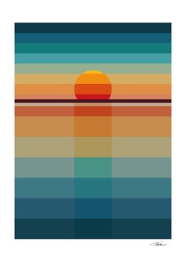 Geometric Sunset