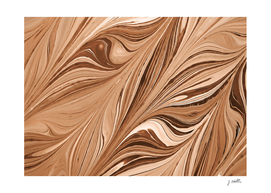 Brown abstract leaves