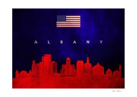 Albany New York Skyline