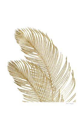 Palm Leaves Finesse Line Art with Gold Foil #2 #minimal