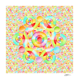 Rainbow Neon Circles