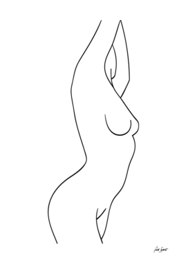 One Line Nude Drawing