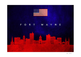 Fort Wayne Indiana Skyline