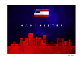 Manchester New Hampshire Skyline