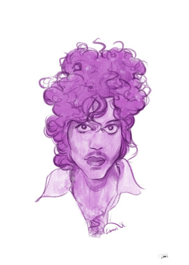 Prince watercolor illustration
