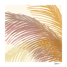Abstract Autumn Palms Illustration