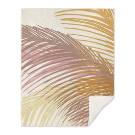 Abstract Autumn Palms Illustration