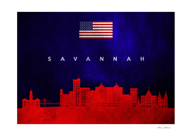 Savannah Georgia Skyline