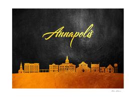 Annapolis Maryland Gold Skyline