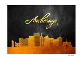 Anchorage Alaska Gold Skyline