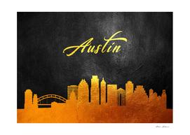 Austin Texas Gold Skyline