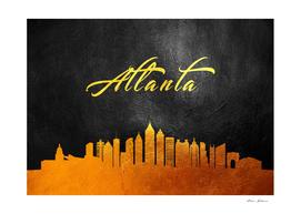 Atlanta Georgia Gold Skyline