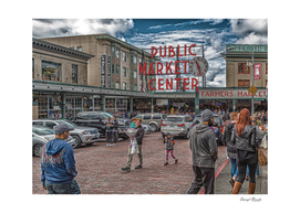 Families at Pike Place Market