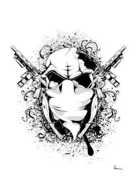 graphic design vector skull