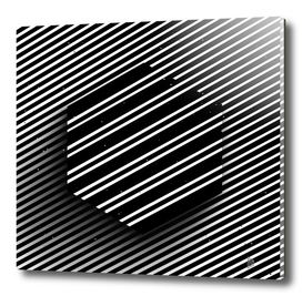 Hexagon of striped lines