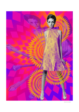 Supermodel Twiggy - Supermodels of the Sixties Series
