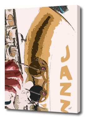 Jazz Saxophone Illustration