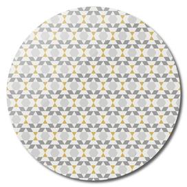 Contemporary Geometric Yellow and Grey Retro Pattern