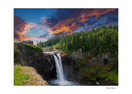 Snoqualmie Falls Early Morning