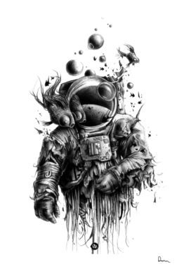 astronaut drawing art outer space