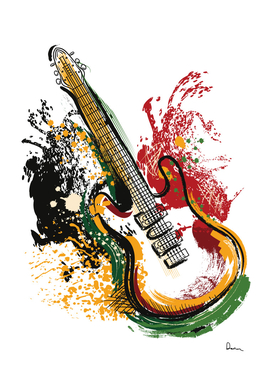 electric guitar grunge