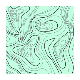green abstract lines