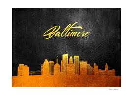 Baltimore Maryland Gold Skyline