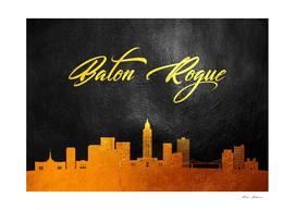 Baton Rogue Louisiana Gold Skyline