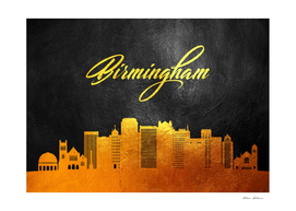 Birmingham Alabama Gold Skyline