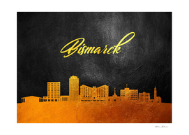 Bismarck North Dakota Gold Skyline